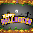 Halloween Doodle - Stock Vector