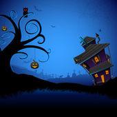 Haunted Halloween House — Stock Vector
