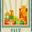 Gift Box in Sale — Stock Vector