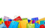 Färgstarka shopping väska — Stockvektor