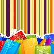 Colorful Shopping Bag — Stock Vector