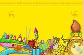 Diwali Doodle — Stock Vector