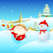 Santa and Snowman — Stock Vector #13869182