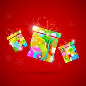 Kleurrijke geschenk — Stockvector
