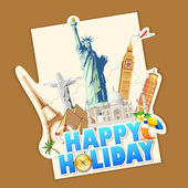 Happy Holiday — Vector de stock