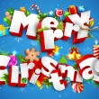 Merry Christmas — Vector de stock #14037688