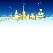 Church in Christmas night — Cтоковый вектор