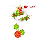 Decoración de la navidad — Vector de stock