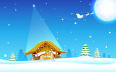 İsa'nın doğumu — Stok Vektör