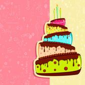 Birthday Card — Vetorial Stock