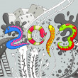 Happy New Year 2013 — Imagen vectorial