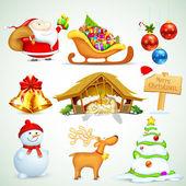 Weihnachten-objekt — Stockvektor