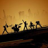 Bande de musican — Vecteur