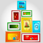 Colorful Christmas Photoframe — Stock Vector