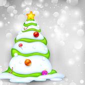 Snowy Christmas Tree — Stock Vector