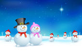 Snowman in Christmas — Stock Vector