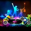 Stock Vector: Disco Jockey Party Night