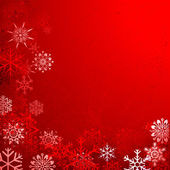 Fond de noël avec des flocons de neige — Vecteur
