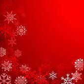 Jul bakgrund med snöflingor — Stockvektor