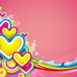Colorful Heart — Stockvectorbeeld