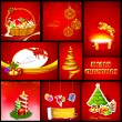 Christmas Background Template — Stock Vector