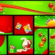 Christmas Background Template — Stock Vector #17389303