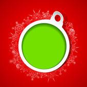снежинки рождество безделушка — Cтоковый вектор