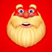 Santa Claus doing ho ho ho — Stock Vector