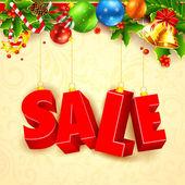 Christmas Sale — Stock Vector
