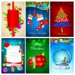Christmas Background Template - Stock Vector