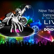 Disco Jockey playing music on New Year Party - Stock Vector