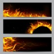 Stock Vector: Fire Flame Template