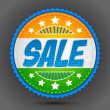 Royalty-Free Stock Vector Image: Sale Badge in Indian Tricolor