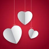 Hanging Heart in Love Background — Stock Vector