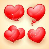 Blank hjärta — Stockvektor