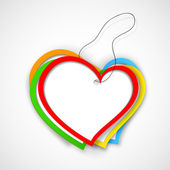 Colorful Paper Heart — Vettoriale Stock
