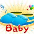 Stock Vector: Baby Shoes
