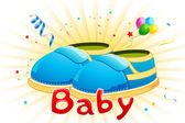 Baby Shoes — Stock Vector