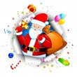 Santa with Goodies — Stock Vector