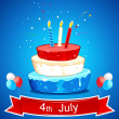 Cake in American Flag Color - Imagen vectorial
