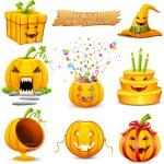 Pumpkin Object for Halloween — Stock Vector #19104025