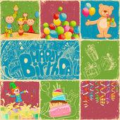 Birthday Collage — Stock Vector