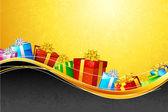 Caja de regalo colorida — Vector de stock
