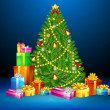 Royalty-Free Stock Vector Image: Christmas Tree with Gift