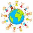 Kids around Earth — Stock Vector #19547639
