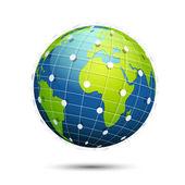Globalny łšczliwo ć — Wektor stockowy