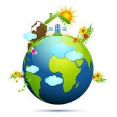 Clean Earth — Stock Vector