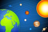 Sonnensystem — Stockvektor