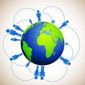 Human Network — Stock Vector