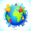 Worldwide Human Networking — Imagen vectorial